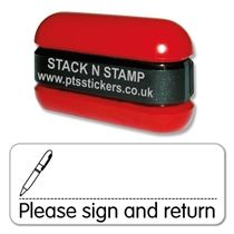 Please sign and return Stack & Stamp