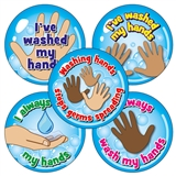 Hand Washing Stickers (20 Stickers - 32mm)