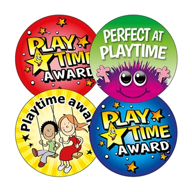 Playtime Award Stickers (20 Stickers - 32mm) Brainwaves