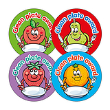 Clean Plate Award Stickers (20 Stickers - 32mm) Brainwaves