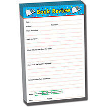 30 page A5 Book Review Pad