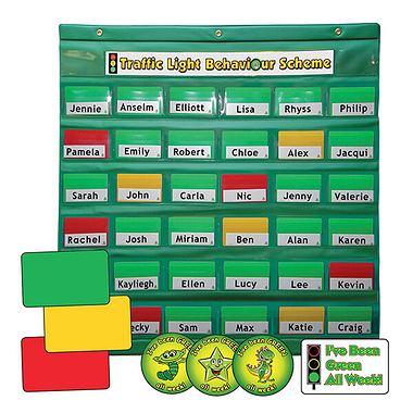 Traffic Light Behaviour Management Scheme Class Set - Green Holder