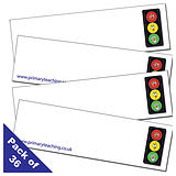 Traffic Light Name Cards (36 Cards - 80mm x 23mm)