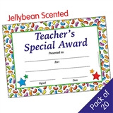 Scented Jellybean Certificates - Teacher's Special Award (20 Certificates - A5)
