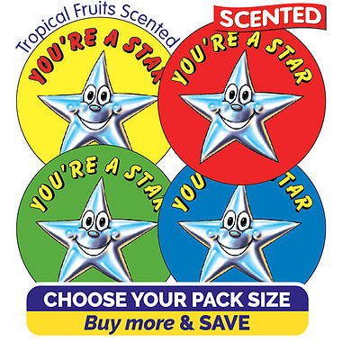 Tropical Fruits Scented Stickers - You're a Star (37mm)