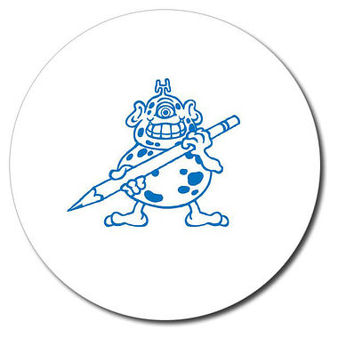 Personalised Monster Stamper - Blue (25mm)