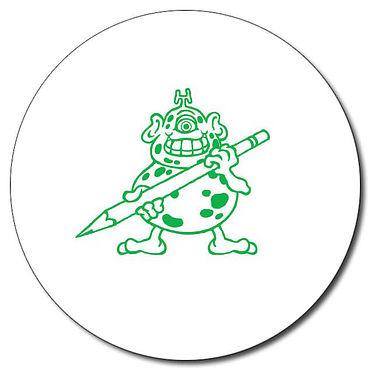 Personalised Monster Stamper - Green (25mm)