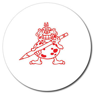 Personalised Monster Stamper - Red (25mm)
