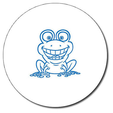 Personalised Frog Stamper - Blue Ink (25mm)