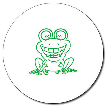 Personalised Frog Stamper - Green Ink (25mm)