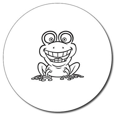 Personalised Frog Stamper - Black Ink (25mm)