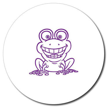 Personalised Frog Stamper - Purple Ink (25mm)