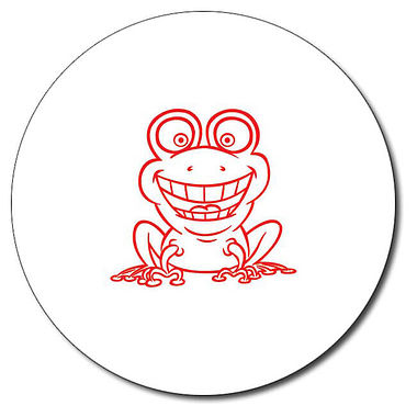 Personalised Frog Stamper - Red Ink (25mm)