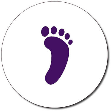 Customised Footprint Stamper - Purple (25mm)