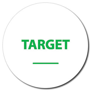 Personalised Target Word 25mm Green Ink Stamper