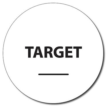Personalised Target Word 25mm Black Ink Stamper