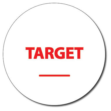 Personalised Target Word 25mm Red Ink Stamper