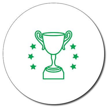 Personalised Trophy Stamper - Green Ink (25mm)