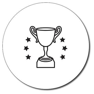 Personalised Trophy Stamper - Black Ink (25mm)