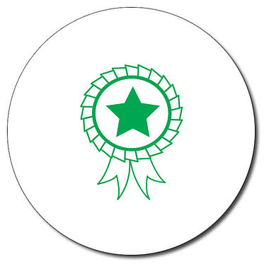 Personalised Rosette Stamper - Green Ink (25mm)