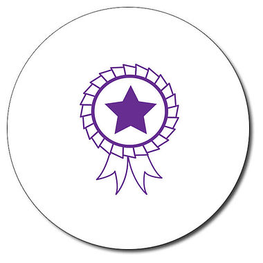 Personalised Rosette Stamper - Purple Ink (25mm)