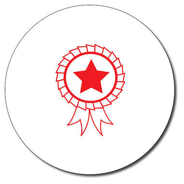 Personalised Rosette Stamper - Red Ink (25mm)