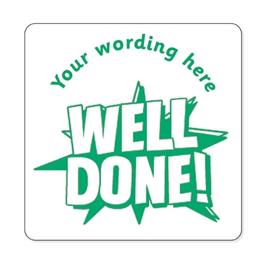 Personalised Well Done! Stamper - Green Ink (25mm)