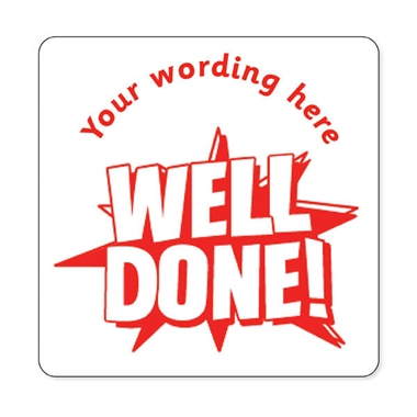 Personalised Well Done! Stamper - Red Ink (25mm)