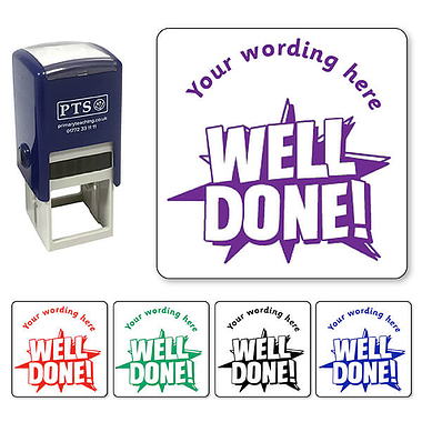 Personalised Well Done! Stamper (25mm)