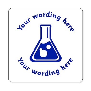 Personalised Science Stamper - Blue Ink (25mm)