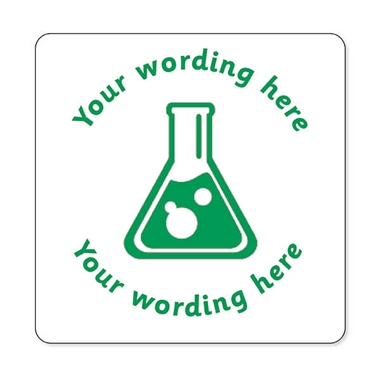 Personalised Science Stamper - Green Ink (25mm)