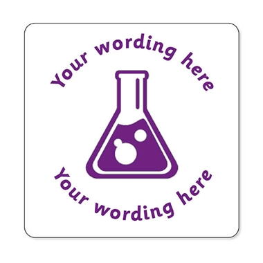 Personalised Science Stamper - Purple Ink (25mm)
