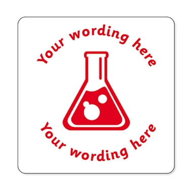Personalised Science Stamper - Red Ink (25mm)