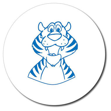 Personalised Tiger Stamper - Blue Ink (25mm)