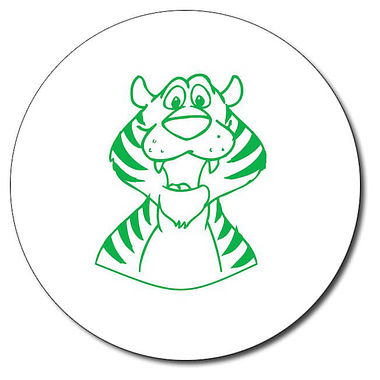 Personalised Tiger Stamper - Green Ink (25mm)