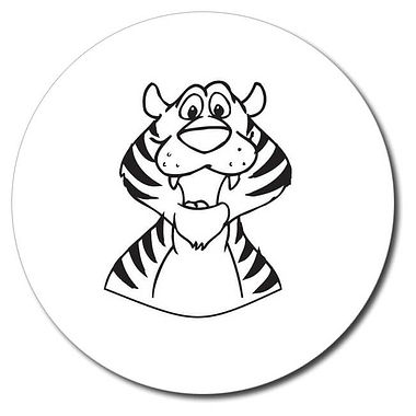 Personalised Tiger Stamper - Black Ink (25mm)