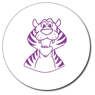 Personalised Tiger Stamper - Purple Ink (25mm)