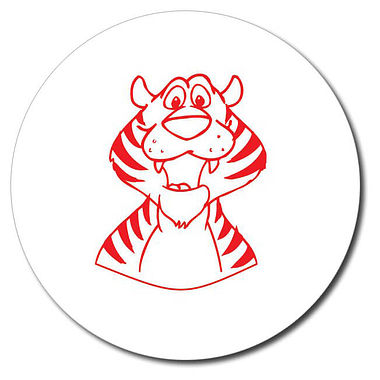 Personalised Tiger Stamper - Red Ink (25mm)