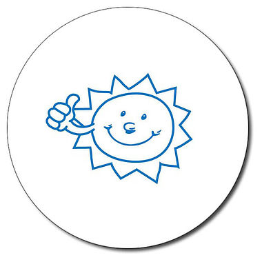 Personalised Sun Stamper - Blue Ink (25mm)