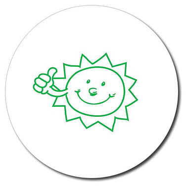 Personalised Sun Stamper - Green Ink (25mm)