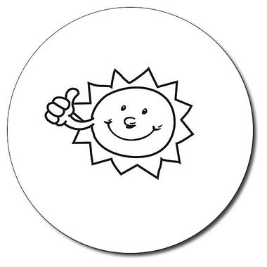 Personalised Sun Stamper - Black Ink (25mm)