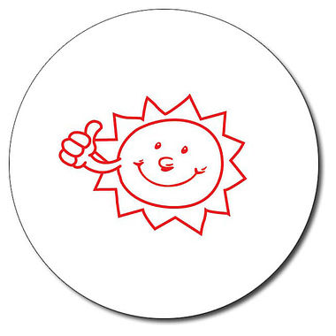 Personalised Sun Stamper - Red Ink (25mm)
