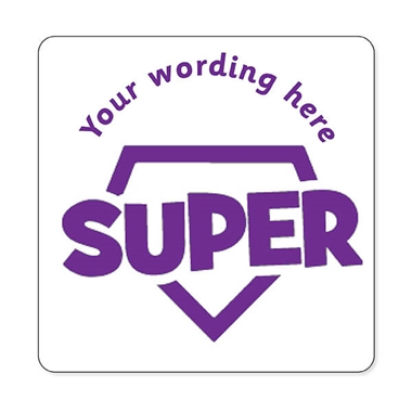 Personalised Super Stamper - Purple Ink (25mm)