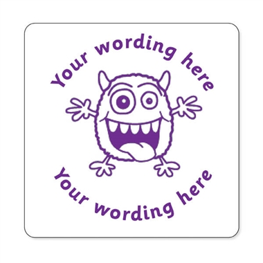 Personalised Monster Stamper - Purple Ink (25mm)
