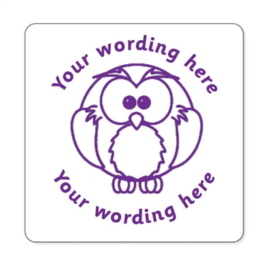 Personalised Owl Stamper - Purple Ink (25mm)