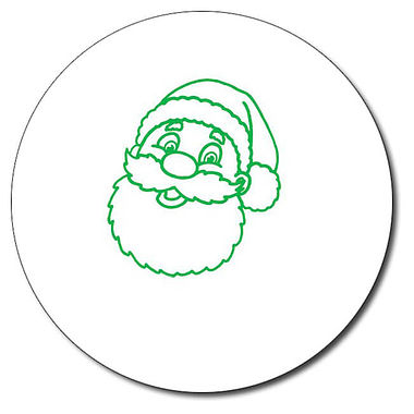 Personalised Father Christmas Stamper - Green Ink (25mm)