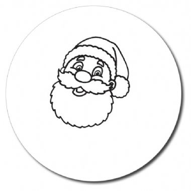 Personalised Father Christmas Stamper - Black Ink (25mm)