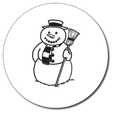 Customised Snowman Stamper - Black Ink (25mm)