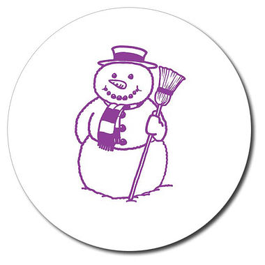 Customised Snowman Stamper - Purple Ink (25mm)