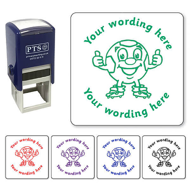 Personalised Football Thumbs Up Stamper (25mm)